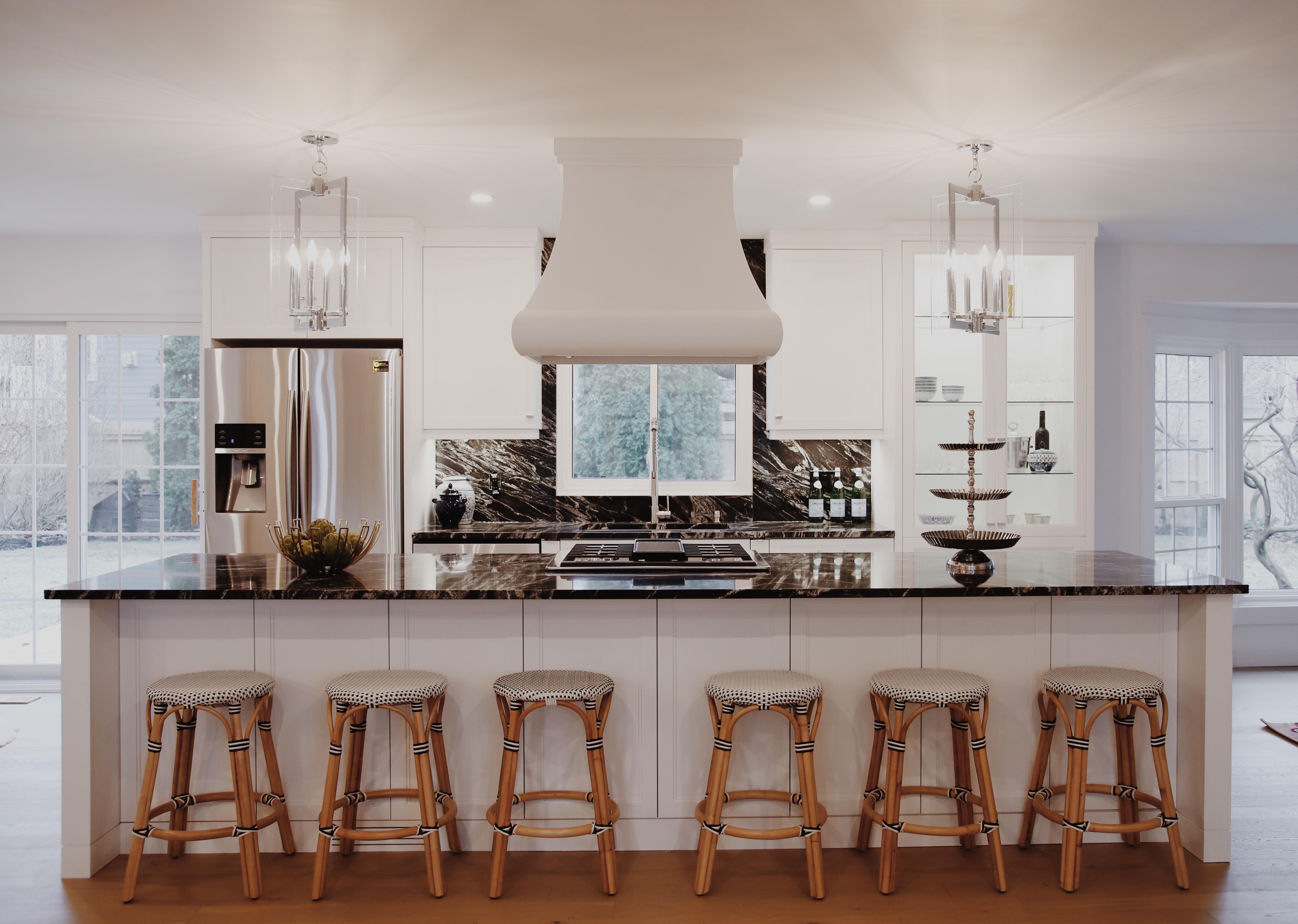 Modern Kitchen with Statement Backsplash