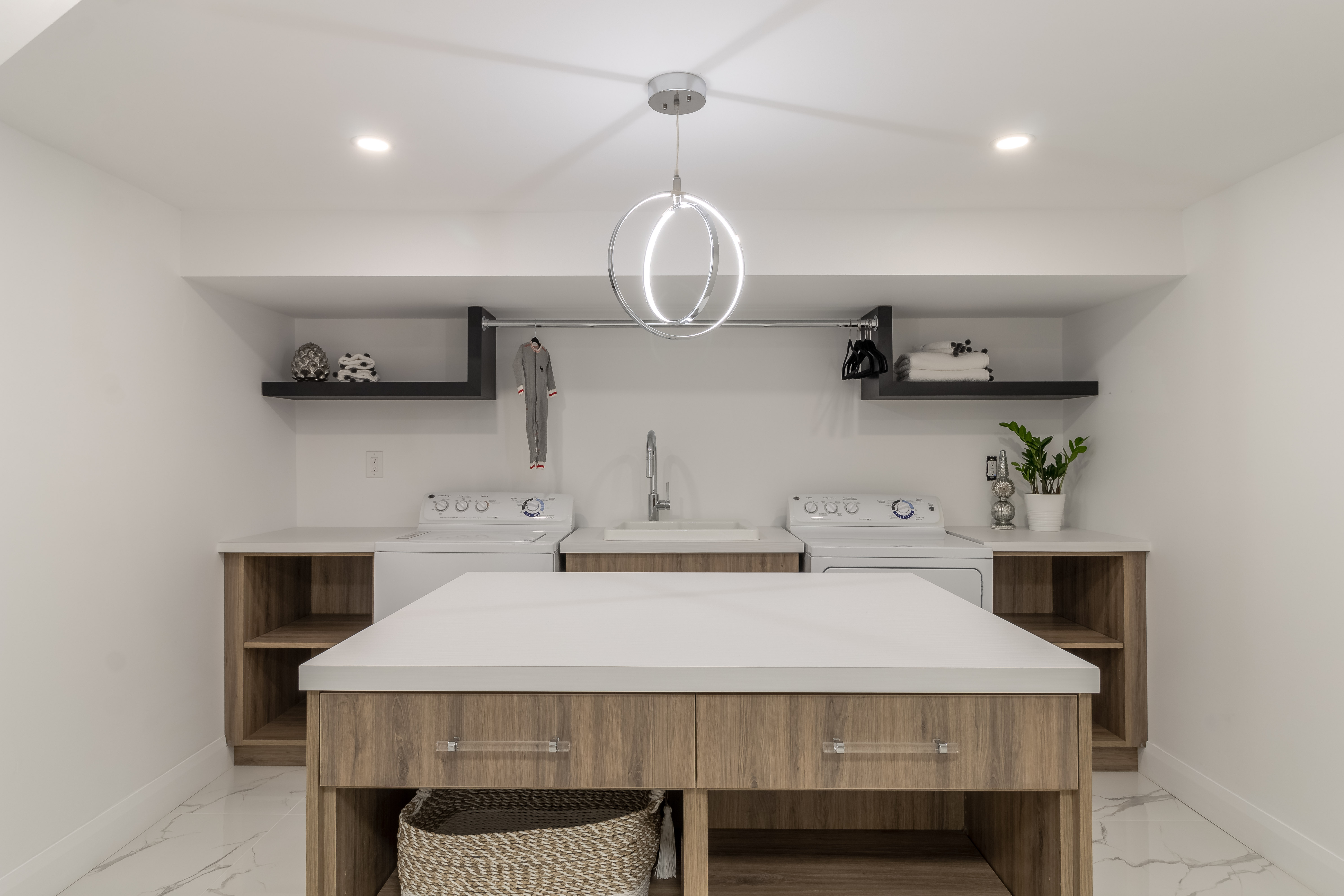 Modern Laundry Room with an Island