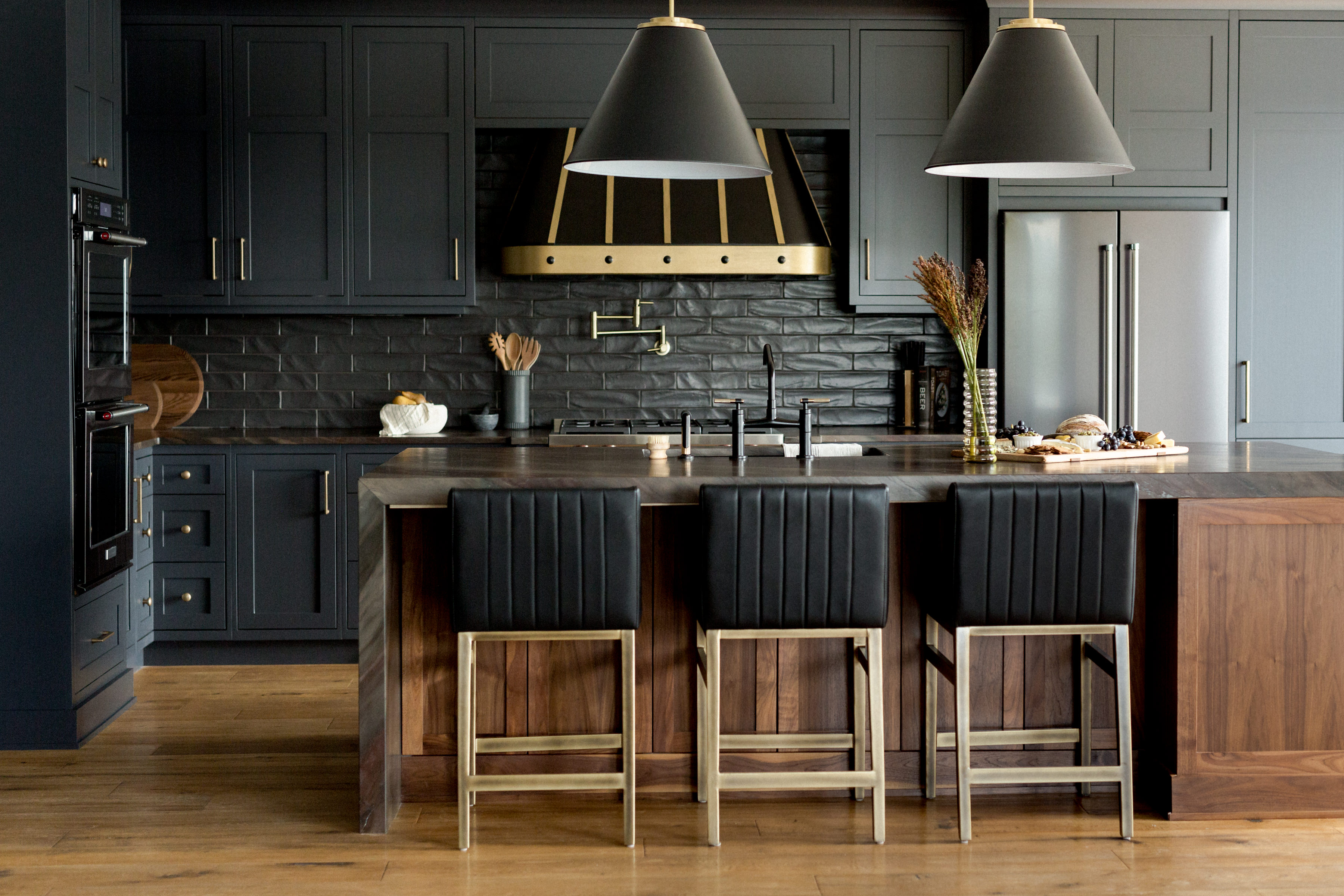 Dark and Moody Bachelor Kitchen