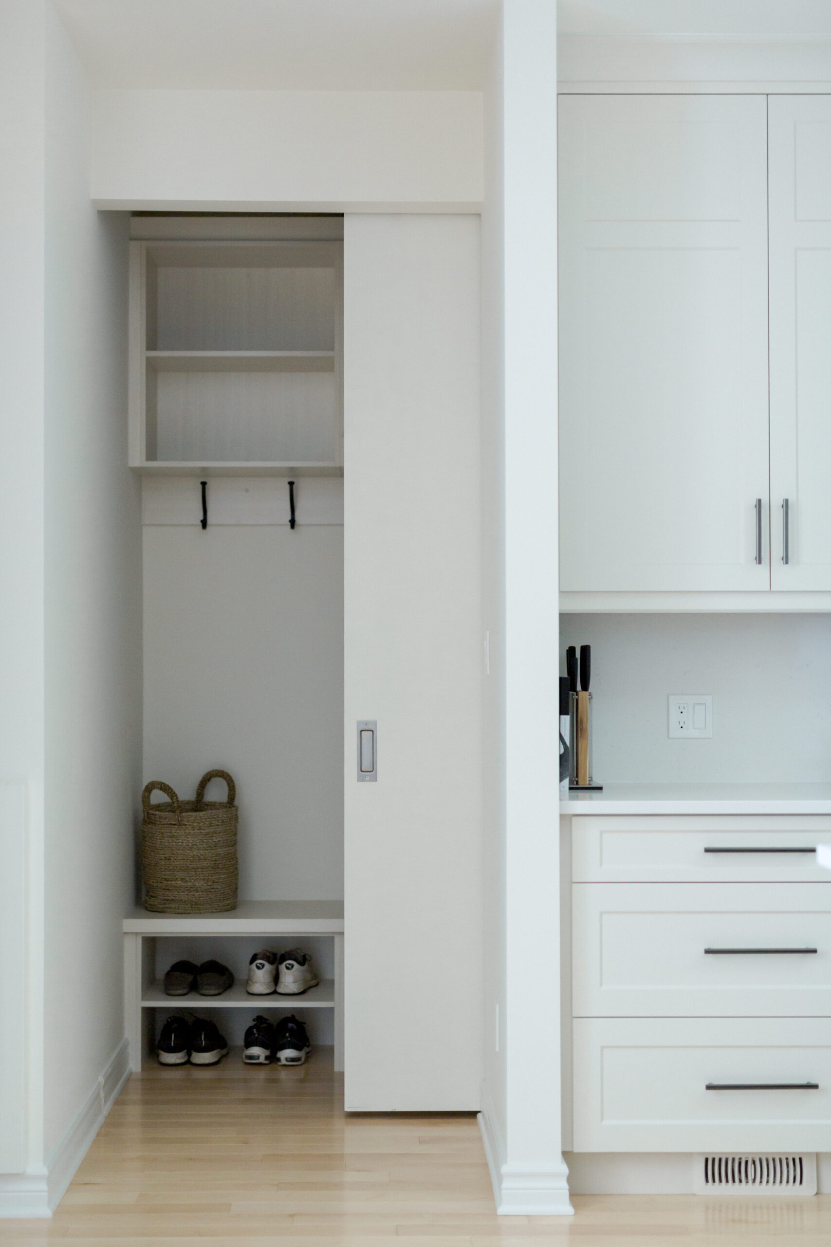 Modern Hidden Mudroom