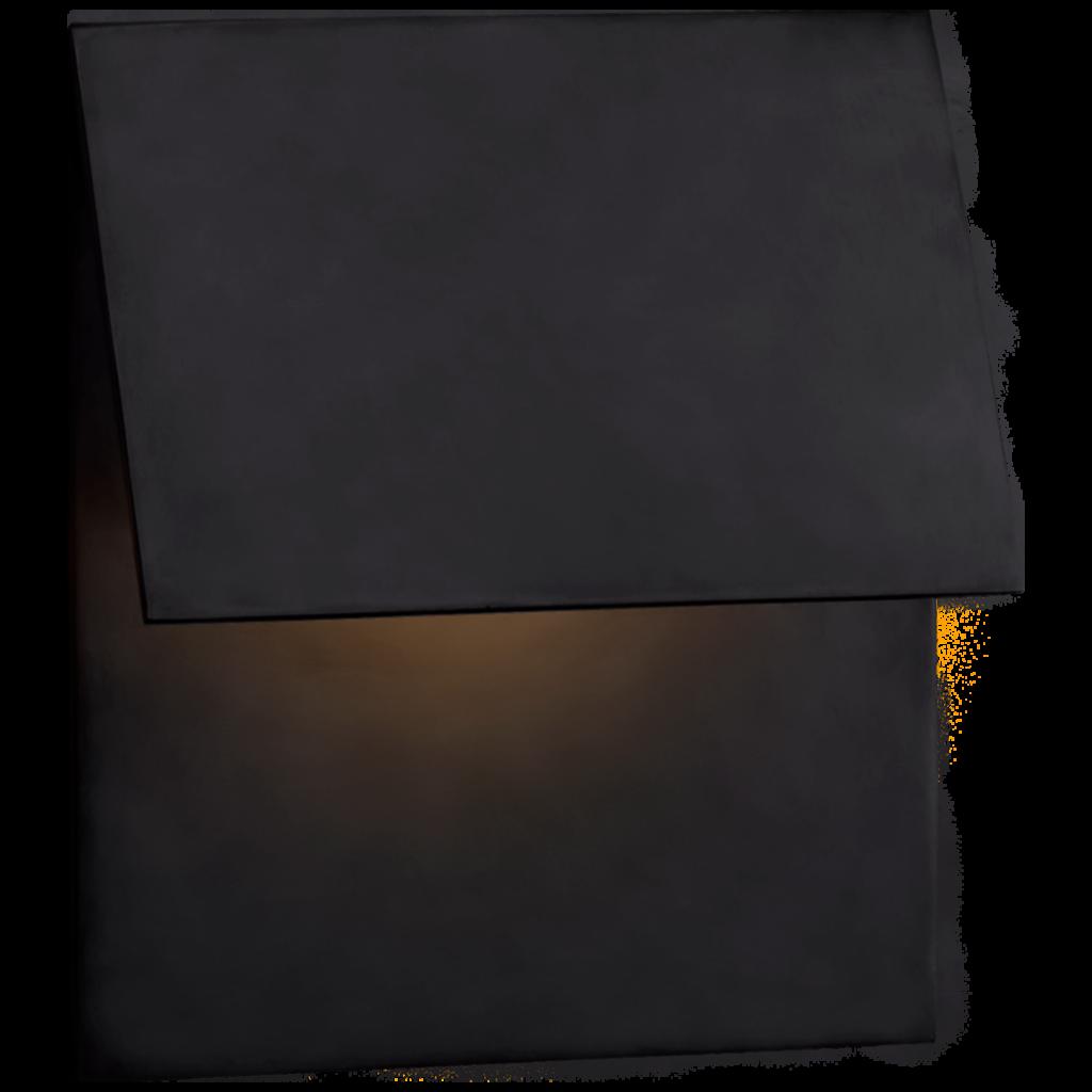 Esker Single Fold Sconce - Bronze